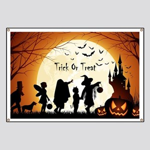 Halloween Trick Or Treat Kids Banner
