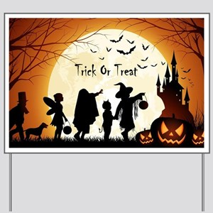 Halloween Trick Or Treat Kids Yard Sign