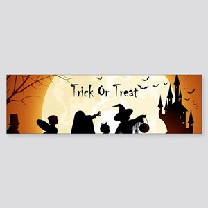 Halloween Trick Or Treat Kids Bumper Sticker