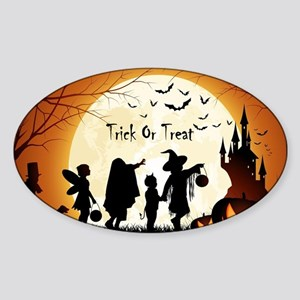 Halloween Trick Or Treat Kids Sticker