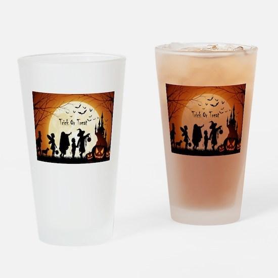 Halloween Trick Or Treat Kids Drinking Glass