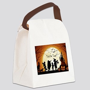 Halloween Trick Or Treat Kids Canvas Lunch Bag