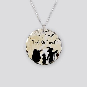 Halloween Trick Or Treat Kids Necklace Circle Char