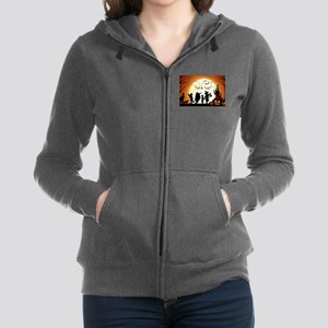 Halloween Trick Or Treat Kids Women's Zip Hoodie