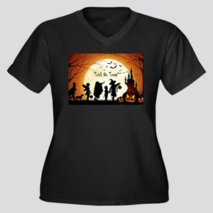 Halloween Trick Or Treat Kids Plus Size T-Shirt