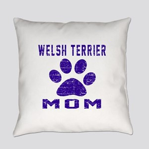 Welsh Terrier mom designs Everyday Pillow