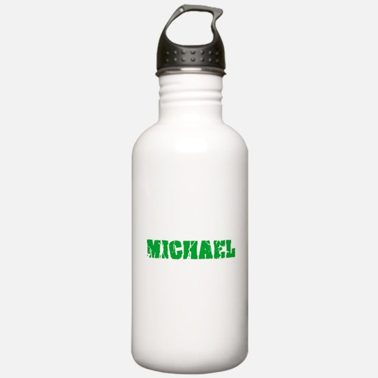 Michael Name Weathered Water Bottle