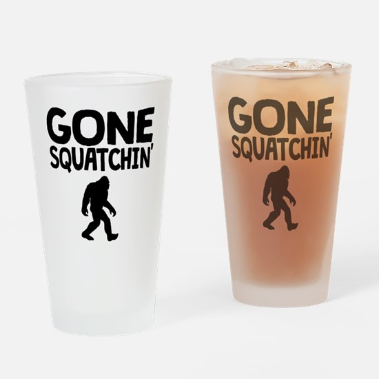 Gone Squatchin Drinking Glass