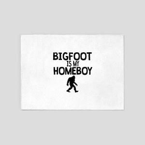 Bigfoot Is My Homeboy 5'x7'Area Rug