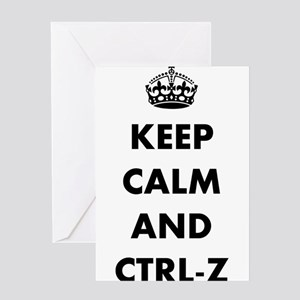 Keep calm and ctrl-z Greeting Cards