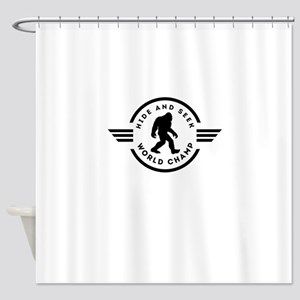 Hide And Seek Champ Bigfoot Shower Curtain