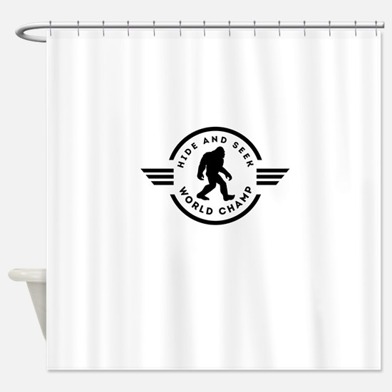 Hide And Seek Champ Bigfoot Shower Curtain