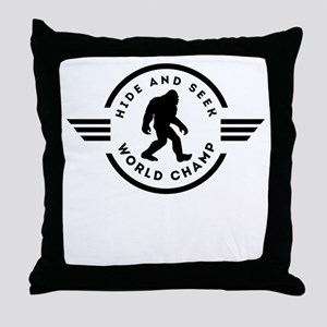 Hide And Seek Champ Bigfoot Throw Pillow