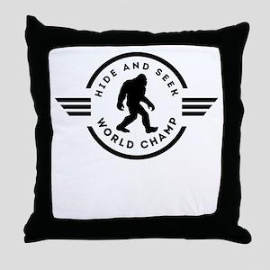 Hide And Seek Champ Bigfoot Throw Pillow