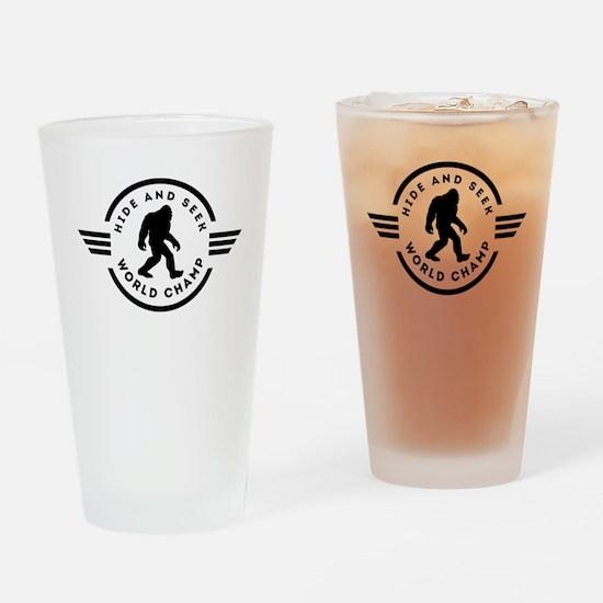 Hide And Seek Champ Bigfoot Drinking Glass