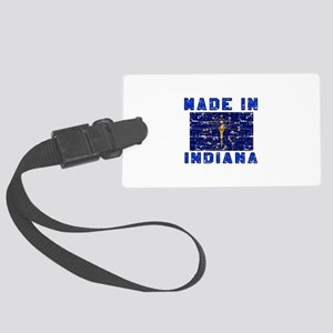 Made In Indiana Large Luggage Tag