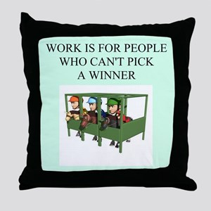 horse racing gifts t-shirts Throw Pillow