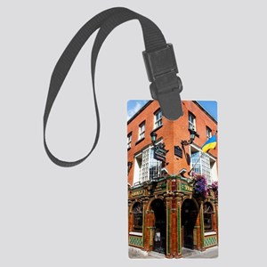 The Quays Bar - Dublin Ireland Large Luggage Tag