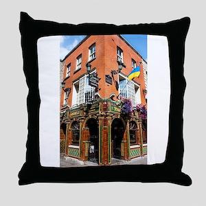 The Quays Bar - Dublin Ireland Throw Pillow