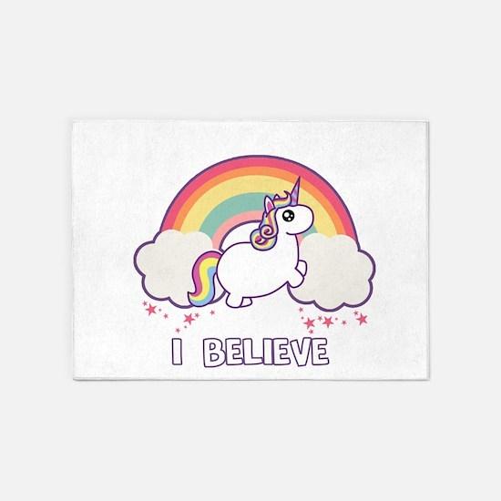 I Believe in Unicorns 5'x7'Area Rug