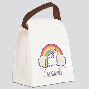 I Believe in Unicorns Canvas Lunch Bag