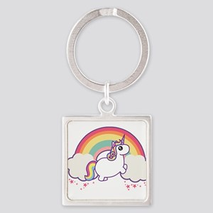 Chubby Unicorn Keychains