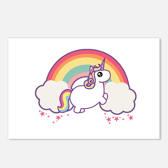 Chubby Unicorn Postcards (Package of 8)