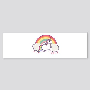 Chubby Unicorn Bumper Sticker