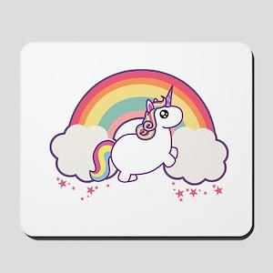 Chubby Unicorn Mousepad