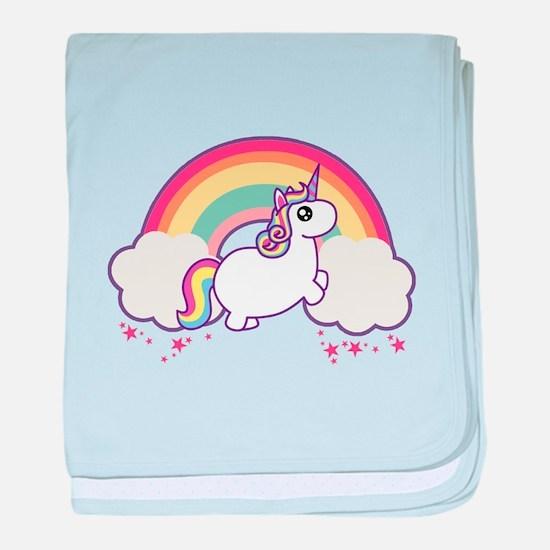 Chubby Unicorn baby blanket