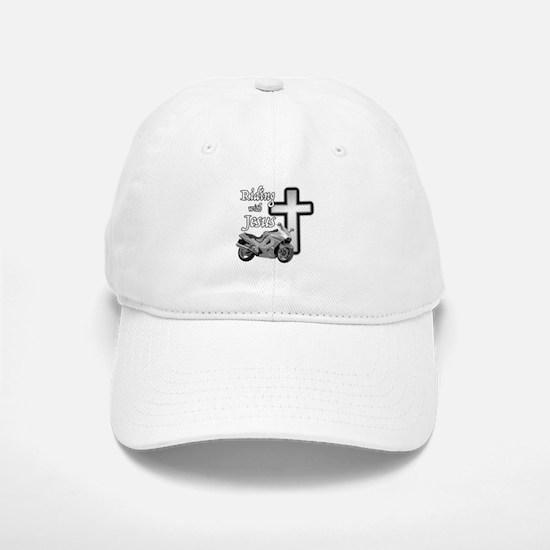 Riding with Jesus Baseball Baseball Cap