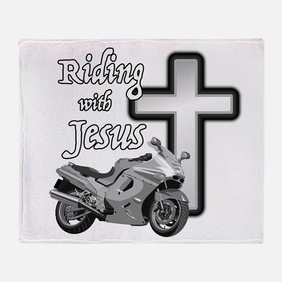 Riding with Jesus Throw Blanket