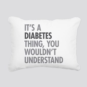 Diabetes Thing Rectangular Canvas Pillow