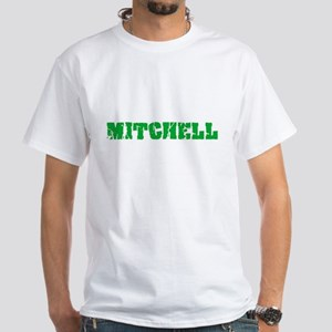 Mitchell Name Weathered Green Design T-Shirt