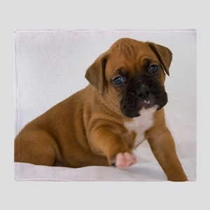 Fawn Boxer Puppy Throw Blanket