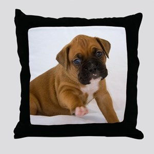 Fawn Boxer Puppy Throw Pillow