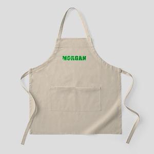 Morgan Name Weathered Green Design Light Apron