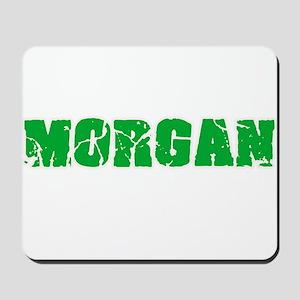 Morgan Name Weathered Green Design Mousepad