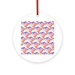 Opah Pattern Round Ornament
