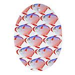 Opah Pattern Oval Ornament