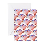 Opah Pattern Greeting Cards