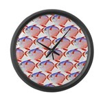 Opah Pattern Large Wall Clock