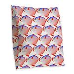 Opah Pattern Burlap Throw Pillow