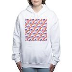 Opah Pattern Women's Hooded Sweatshirt