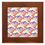 Opah Pattern Framed Tile
