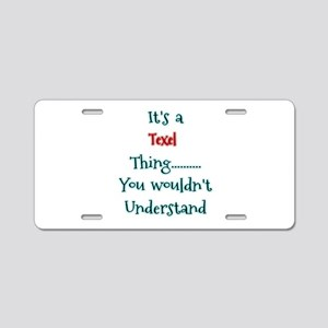 Texel Thing Aluminum License Plate