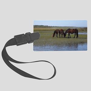 Shackleford Ponies Large Luggage Tag