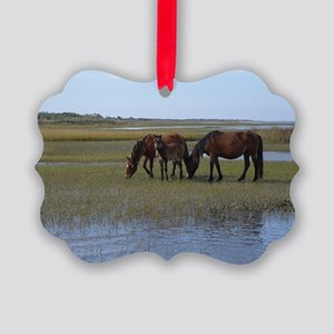 Shackleford Ponies Picture Ornament