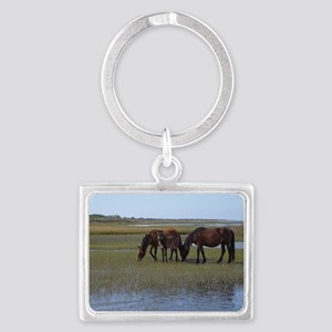 Shackleford Ponies Landscape Keychain