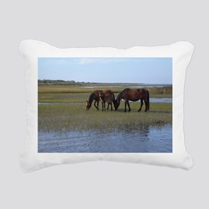 Shackleford Ponies Rectangular Canvas Pillow